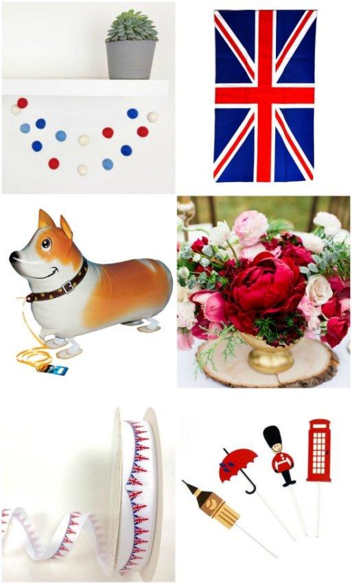 Royal Wedding watch party decor ideas