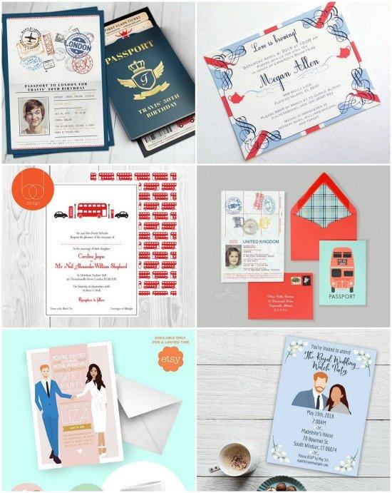 Royal wedding viewing party invitations-2