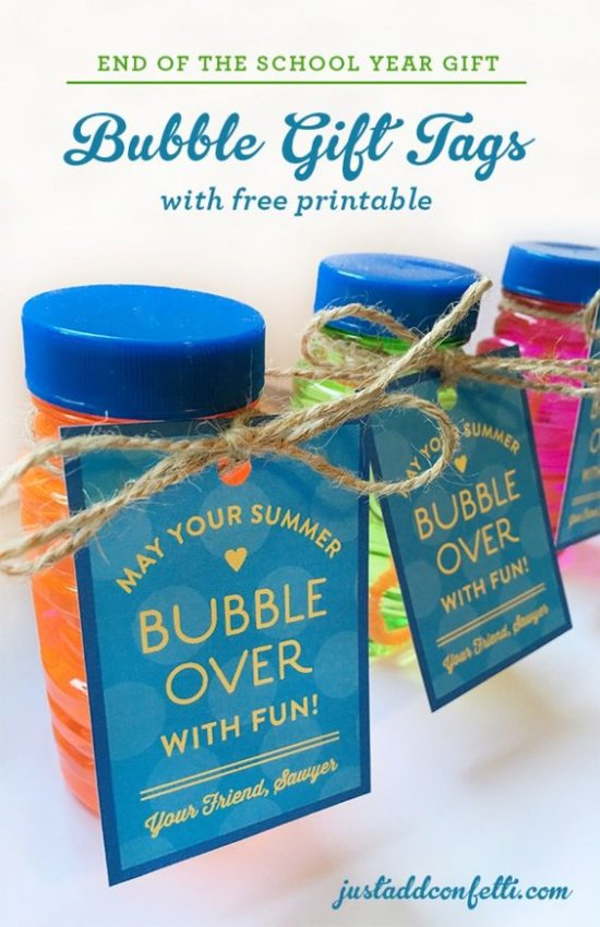 End of school free printable gift tag by Just Add Confetti