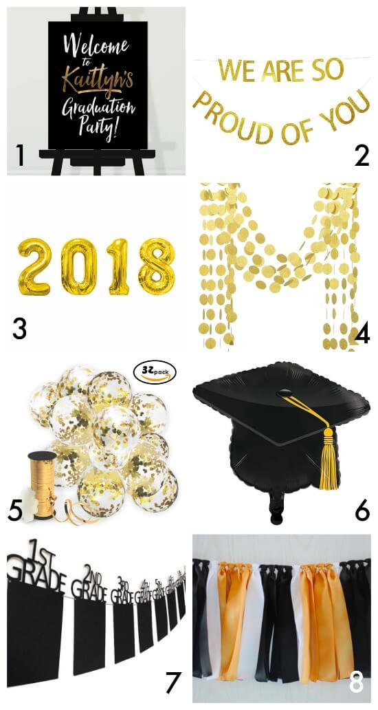 Graduation party decor curated by The Party Teacher