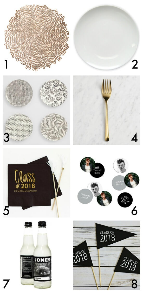 Graduation party plan - dining table ideas by The Party Teacher