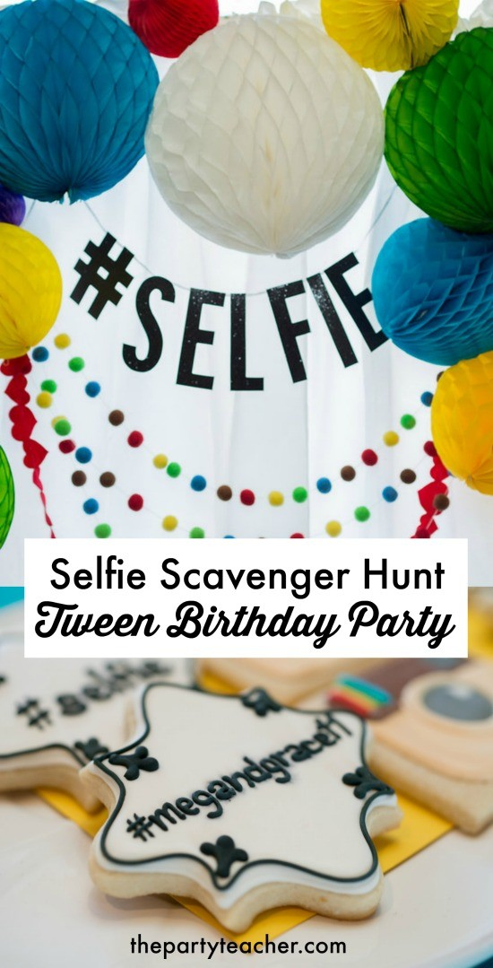 How to Plan a Selfie Scavenger Hunt Birthday Party by The Party Teacher