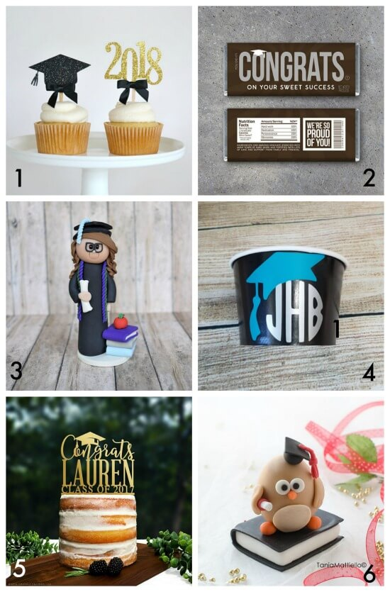Ideas to dress up your graduation treats curated by The Party Teacher