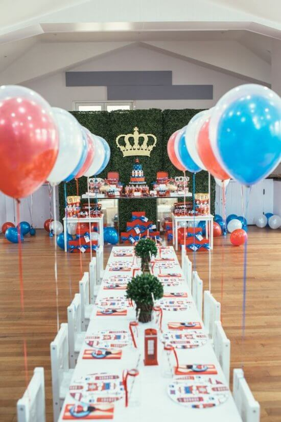 London Is Calling birthday party by White Door Events via Style Me Pretty Living