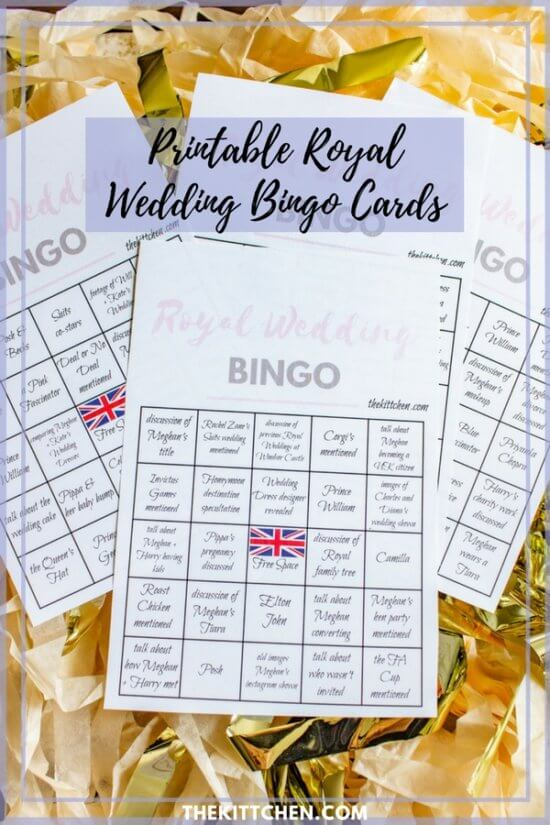 Printable-Royal-Wedding-Bingo-Cards by The Kittchen