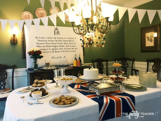 Royal Wedding Viewing Party by The Party Teacher - buffet