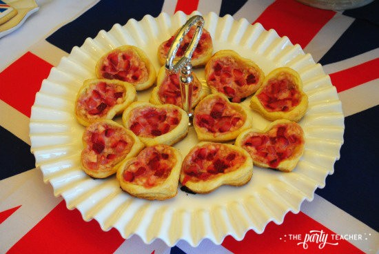 Royal Wedding Viewing Party by The Party Teacher - strawberry heart pastries