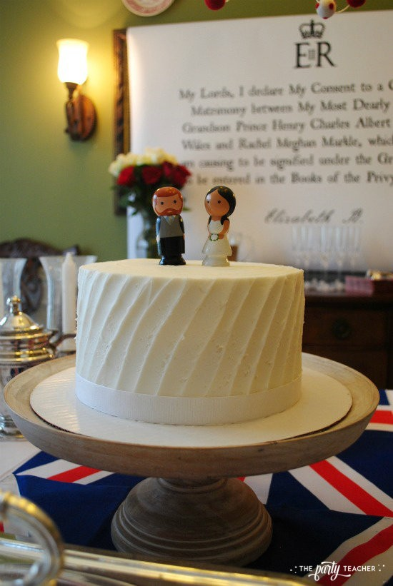 Royal Wedding Viewing Party by The Party Teacher - wedding cake
