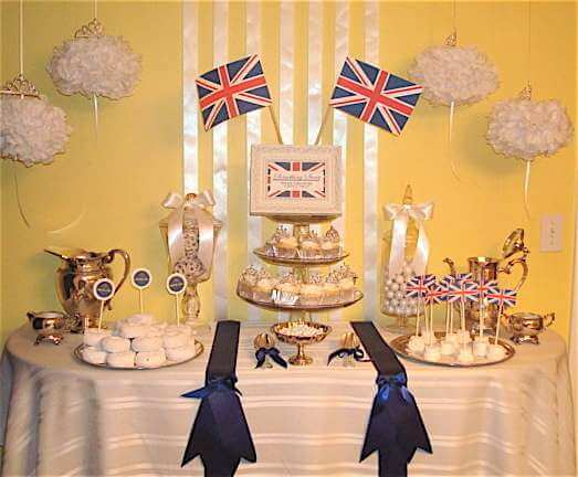 Royal wedding brunch by Sweet Soirees via Catch My Party
