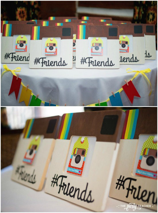 Selfie Scavenger Hunt Birthday Party by The Party Teacher - Instagram frame party favors