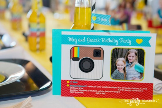 Selfie Scavenger Hunt Birthday Party by The Party Teacher - Instagram invitation by Anders Ruff