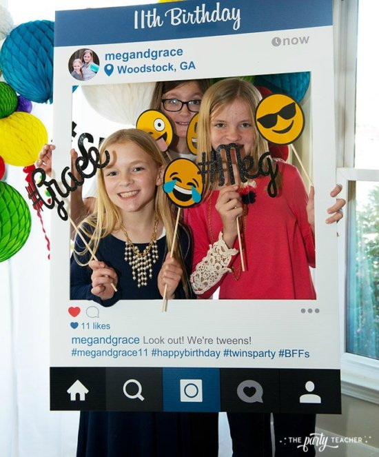 Selfie Scavenger Hunt Birthday Party by The Party Teacher - Instagram photo booth