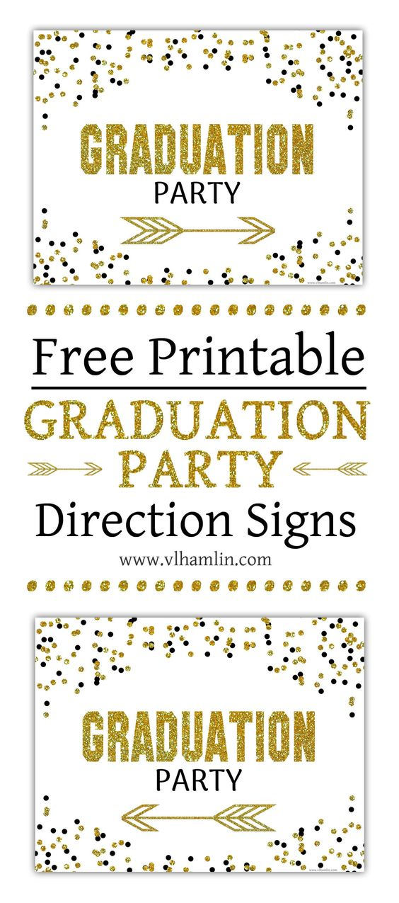 free graduation direction signs by VL Hamlin