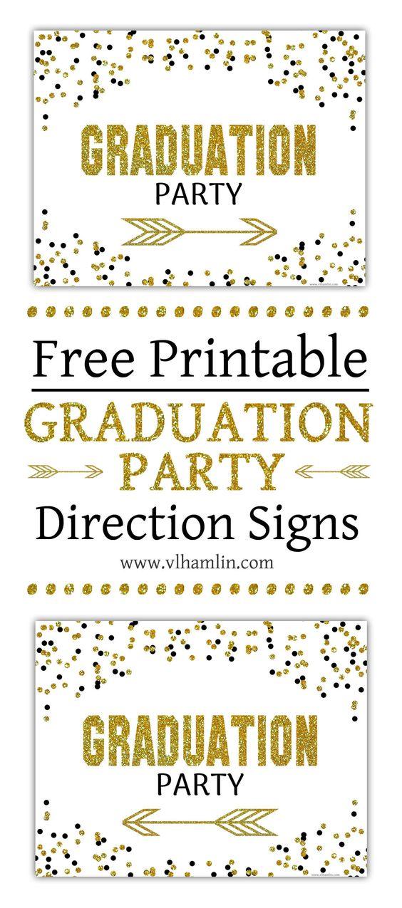 free graduation direction signs by VL Hamlin