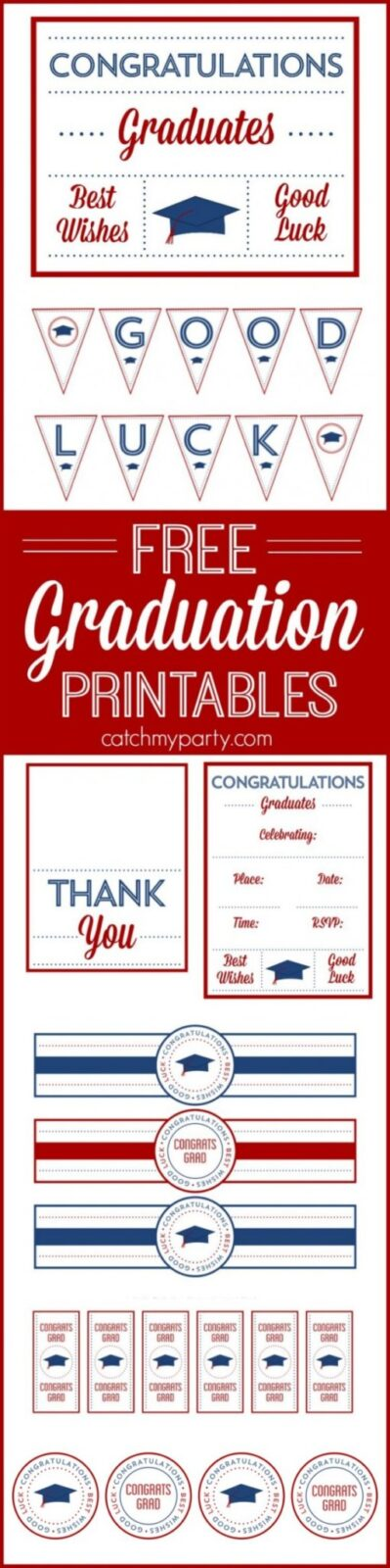 free graduation party printables by Printabelle for Catch My Party