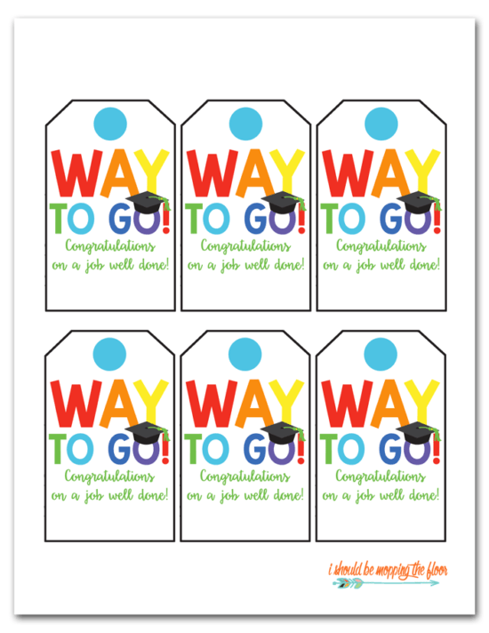 graduation gift tags free printable - I Should Be Mopping the Floor