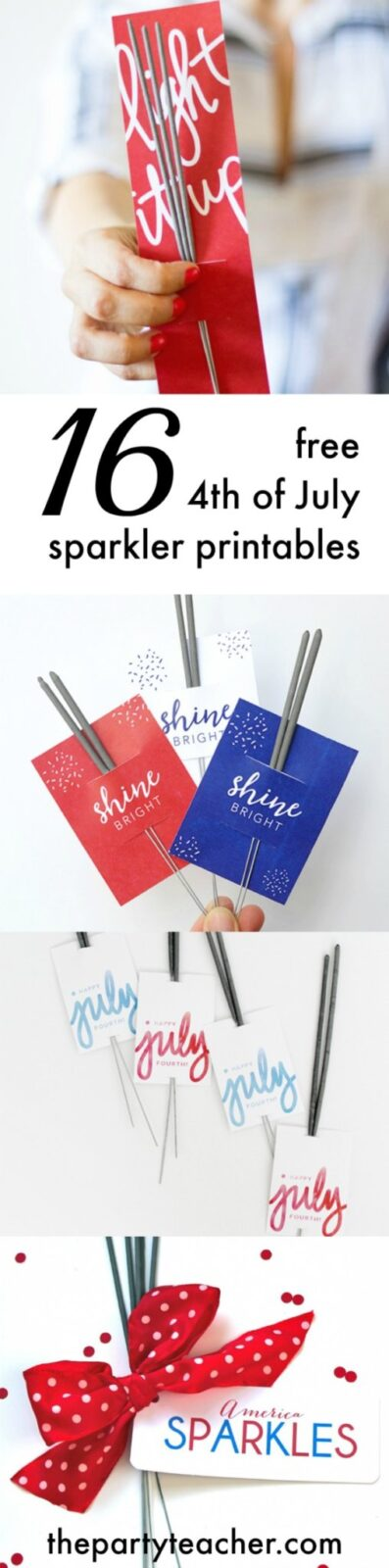 16 free 4th of July sparkler printables - The Party Teacher