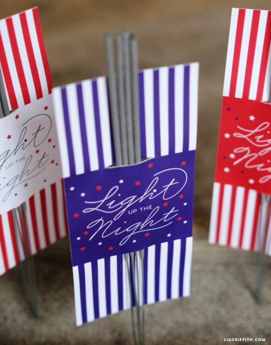4th of July free sparkler holders by Lia Griffith