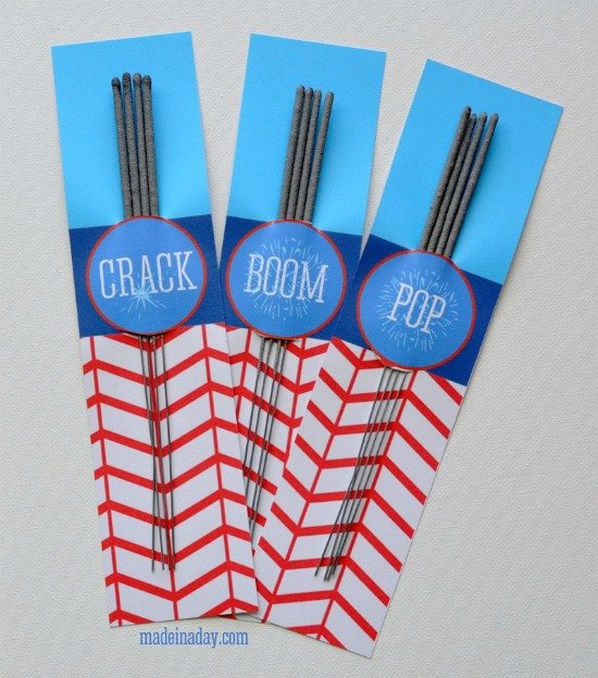 4th of July free sparkler holders by Made in a Day