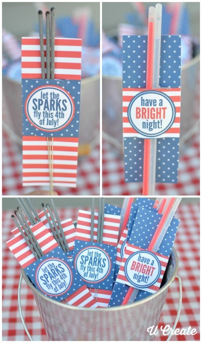 4th of July free sparkler holders by U-Create Crafts