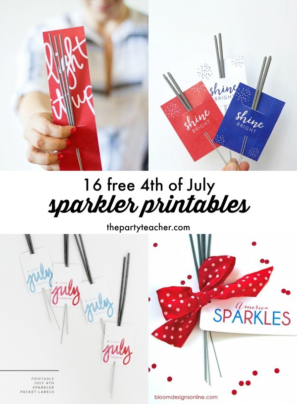 Freebie Friday 4th of July Sparkler Printables curated by The Party Teacher