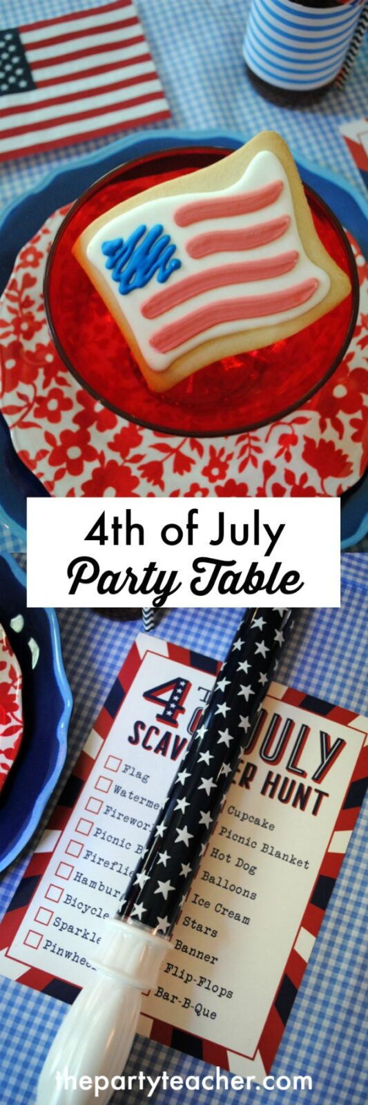 How to style 4th of July kids' party table by The Party Teacher