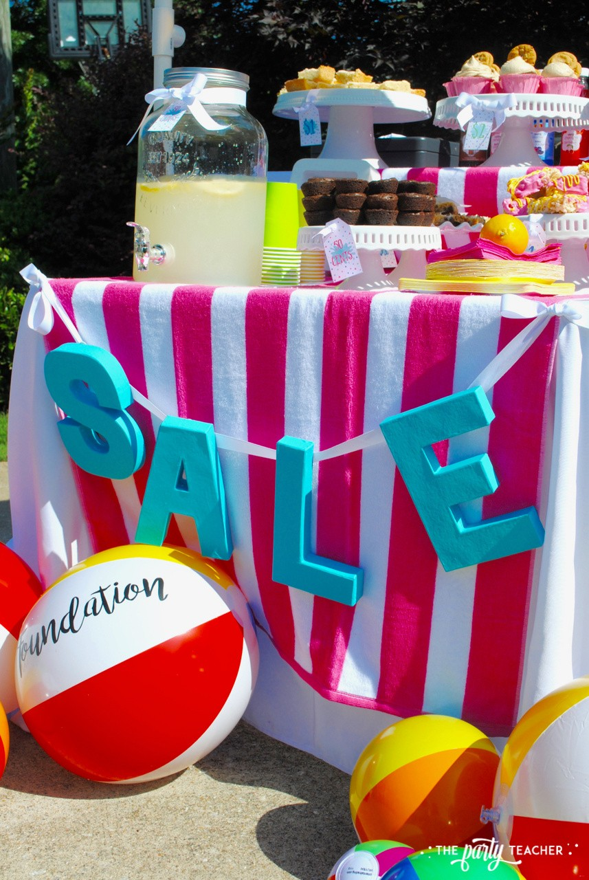 Beachy Bake Sale by The Party Teacher - paper mache letter banner