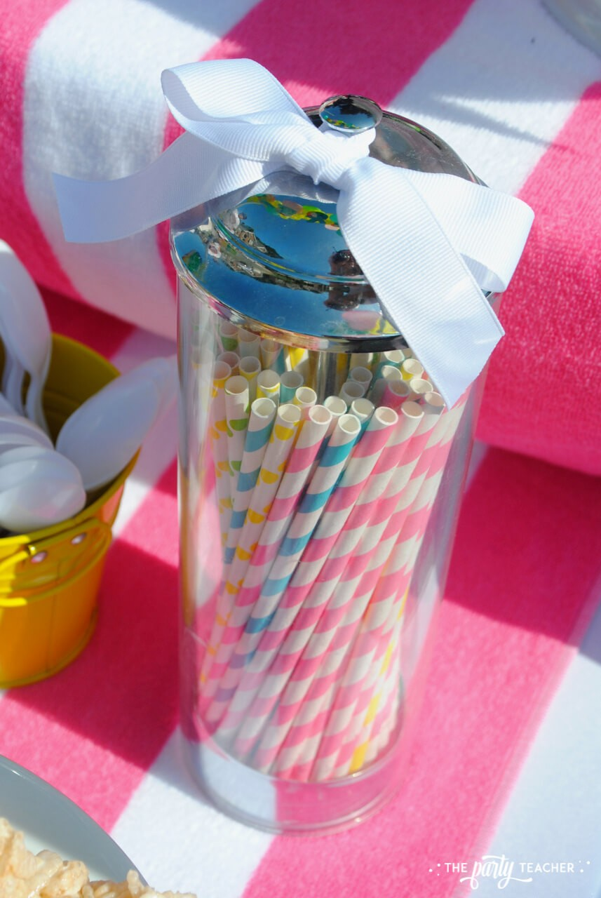 Beachy Bake Sale by The Party Teacher - party straws