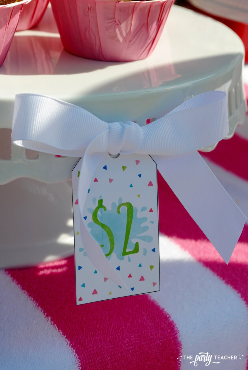Beachy Bake Sale by The Party Teacher - price tags