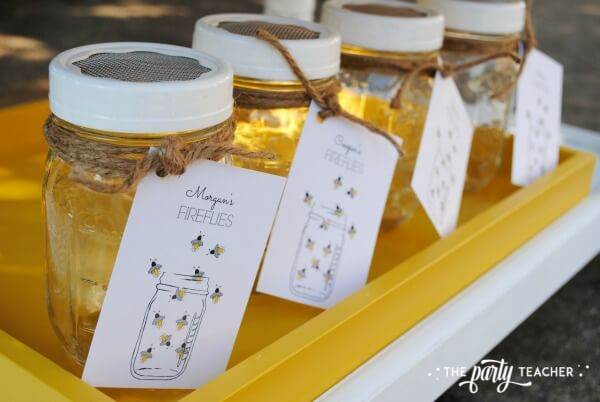 How to throw a Firefly Catching Party by The Party Teacher - firefly catching mason jars