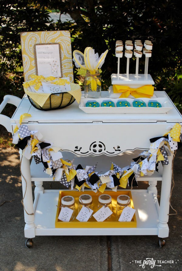 How to throw a Firefly Catching Party by The Party Teacher - full dessert table