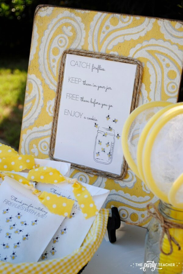 How to throw a Firefly Catching Party by The Party Teacher - party frame