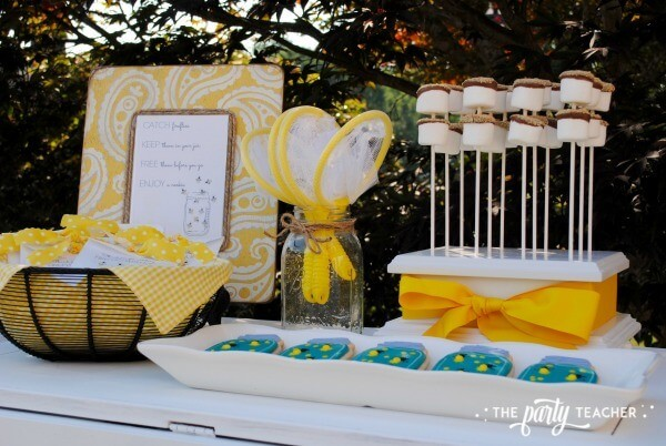 How to throw a Firefly Catching Party by The Party Teacher - party table