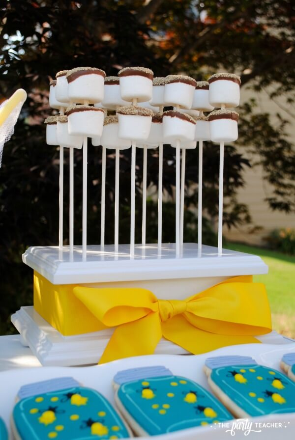 How to throw a Firefly Catching Party by The Party Teacher - s'mores on a stick