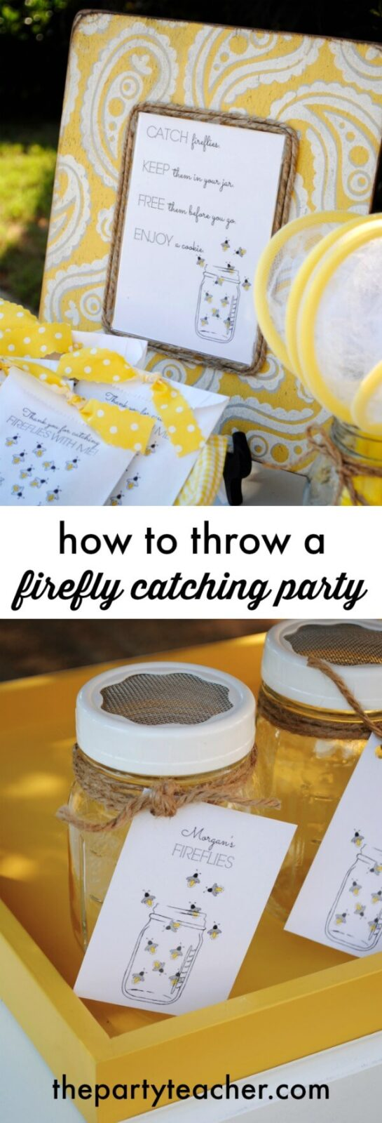 How to throw a firefly catching party by The Party Teacher