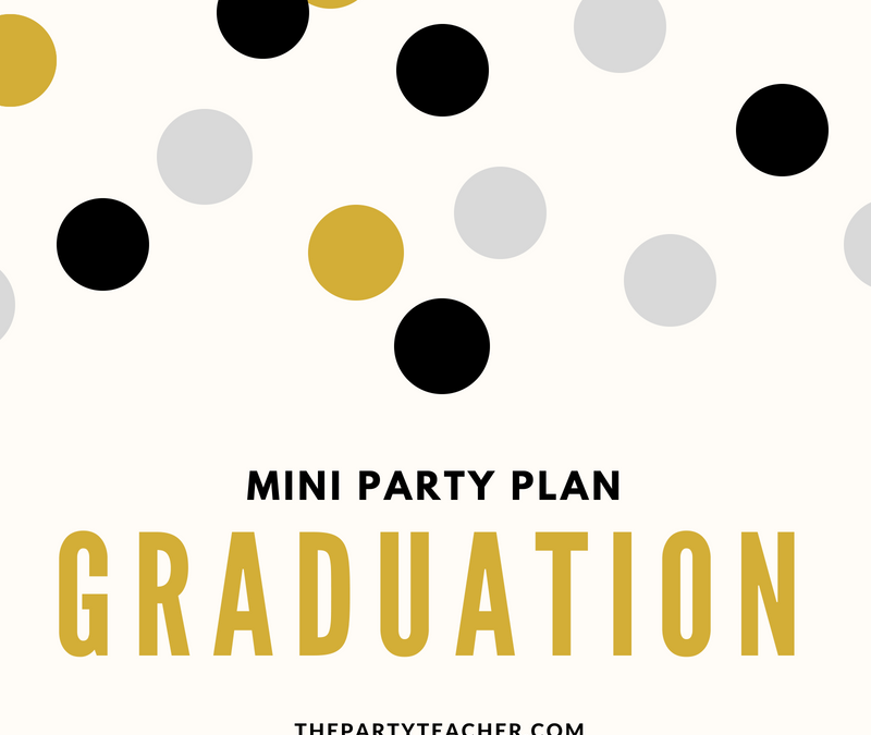 Easy Black & Gold Graduation Party Decoration Ideas