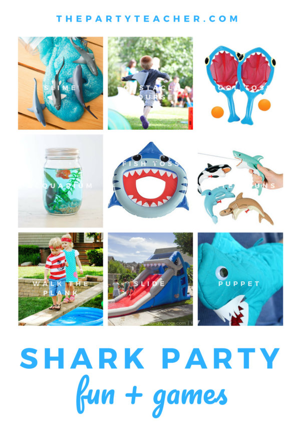 Shark birthday party activity and game ideas from The Party Teacher