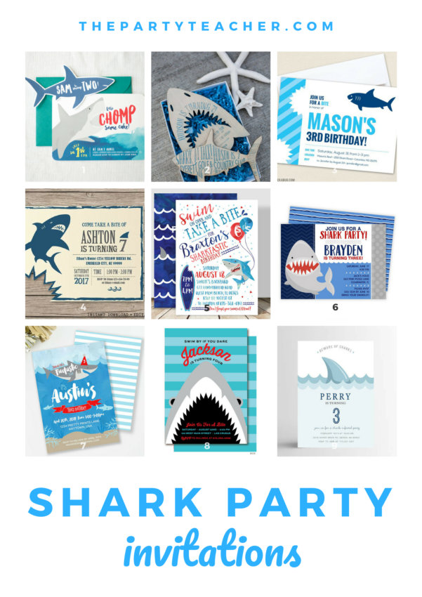 How to plan a shark birthday party - a mini party plan from The Party Teacher
