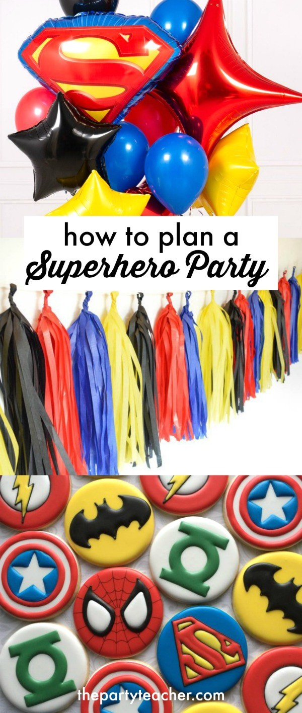 How to plan a superhero birthday party by The Party Teacher