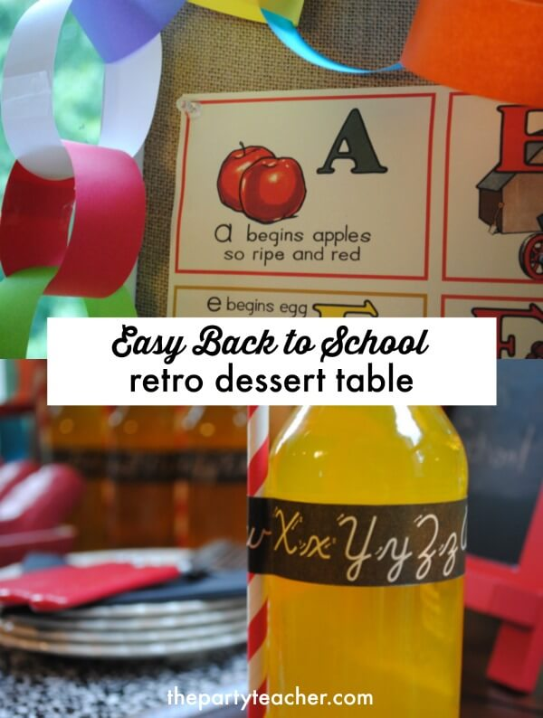 How to style an easy back to school dessert table by The Party Teacher