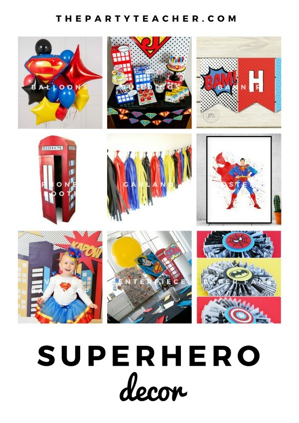 Superhero Mini Party Plan by The Party Teacher - party decorations