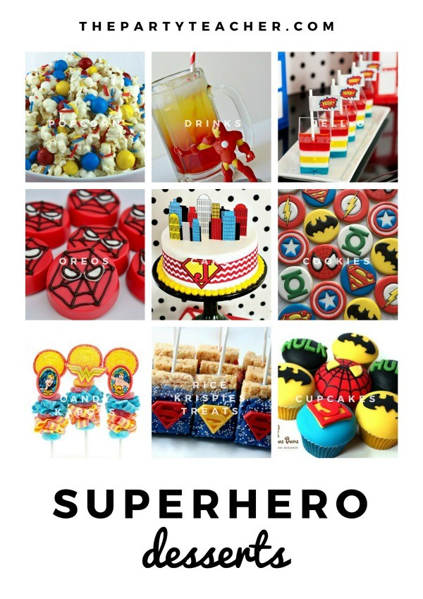 Superhero Mini Party Plan by The Party Teacher - party desserts