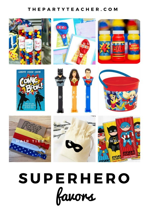 Superhero Mini Party Plan by The Party Teacher - party favors