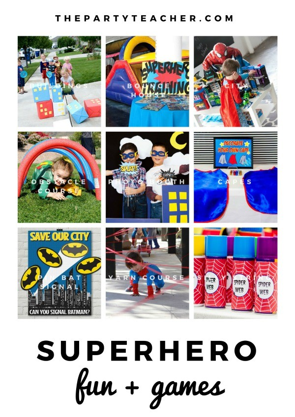Superhero Mini Party Plan by The Party Teacher - party games