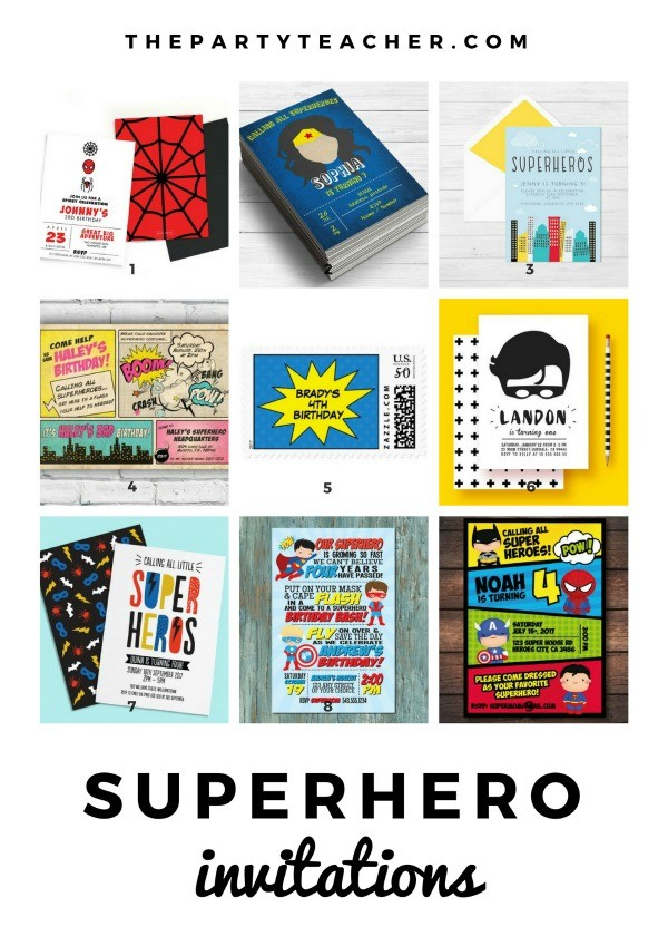 Superhero Mini Party Plan by The Party Teacher - party invitations