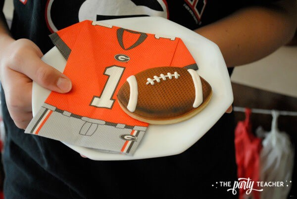 Football Party by The Party Teacher - Meg cookie plate 39
