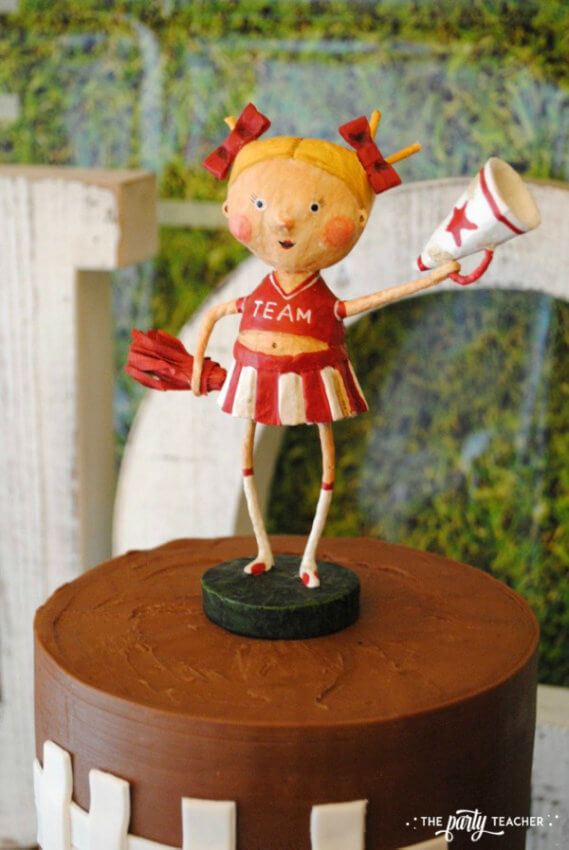 Football Party by The Party Teacher - cheerleader cake topper 29