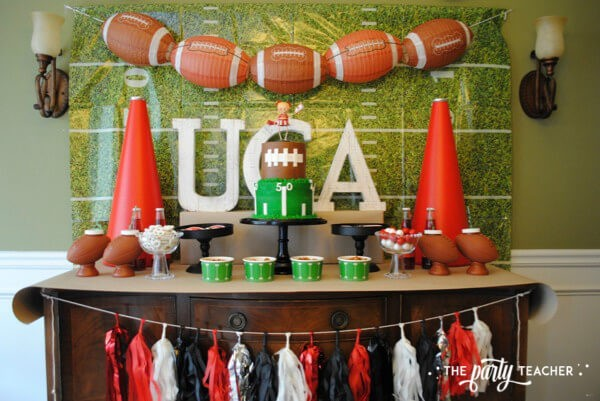 Football Party by The Party Teacher - dessert table 14