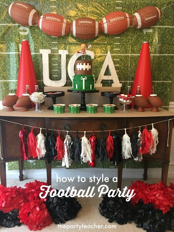 How to style a football party by The Party Teacher