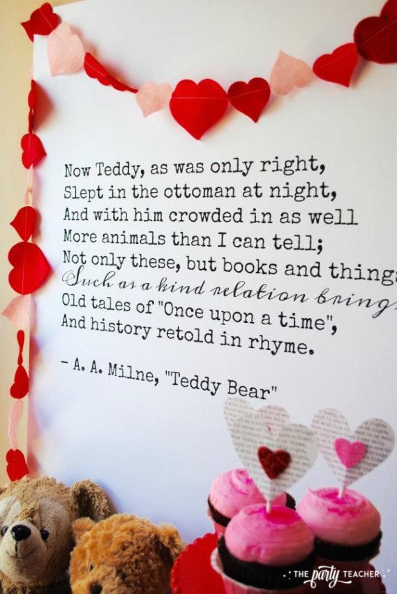 Teddy Bear Valentine's Bar Cart by The Party Teacher - backdrop 2